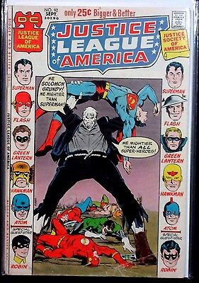 JUSTICE LEAGUE OF AMERICA #92 (VG/FN) Solomon Grundy! Neal Adams Cover! 52 Pages
