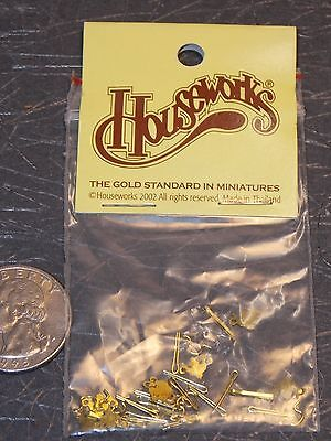 Dollhouse Miniature Hardware Brass Pulls & Plates 1:12 scale A35 Dollys Gallery