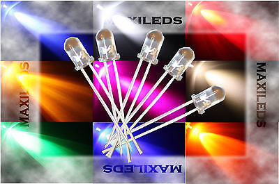 50x 3mm LED Rond diffuse très Lumineux Diode Resistance 3mm