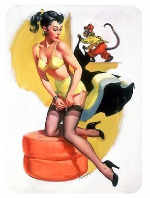 Vintage Style Pin Up Girl Sticker P78 Pinup Girl Sticker