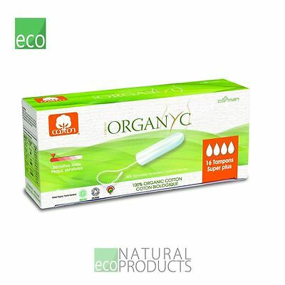 Organyc Organic Cotton Tampons Super Plus 16 per pack