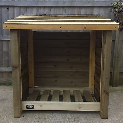 Ramsley 4Ft Tall Single Bay Wooden Log Store