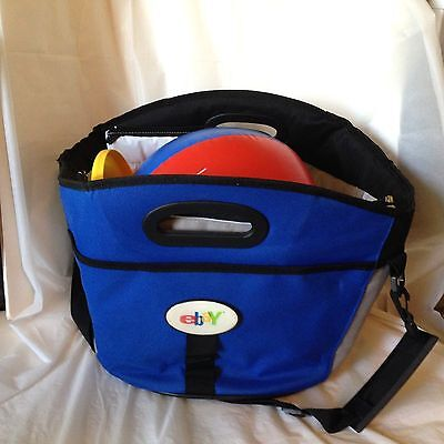 Lg Blue Insulated Beach Bag EBAY Logo Picnic Cooler Ball & Frisbee eBayana Tote