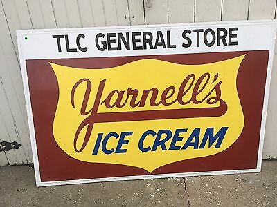 Yarnell Ice Cream Large Antique Advertising General Store Sign