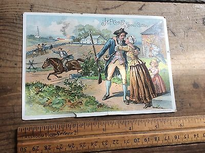 Vintage Antique Post Card, J & P Coats Spool Cotton Advertising, Dated 1894