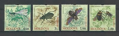 Moldova 2009 Insects 4 MNH stamps