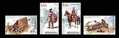 Moldova 2012 Medieval Weapons 4 MNH Stamps