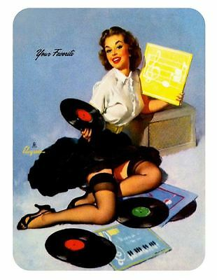 Vintage Style Pin Up Girl Sticker P93 Pinup Girl Sticker