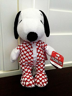 Snoopy Dressed in a Valentine's Day Outfit Plush Beanbag NWT