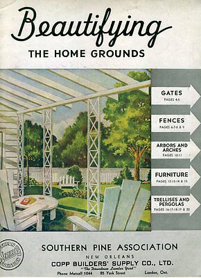 BEAUTIFYING THE HOME GROUNDS SOUTHERN PINE ASSOCIATION 1942 Brochure New Orleans