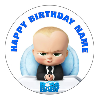 The Boss Baby Personalised Edible Party Birthday Cake Decoration Topper Image