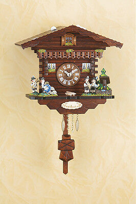 Black Forest Clock Pendulum Clock with Cuckoo, Quartz Movement, Wood Dial 2032pq
