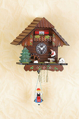 Black Forest Clock - Spinning Mill Wheel,Holzhacker / Music Made in Germany