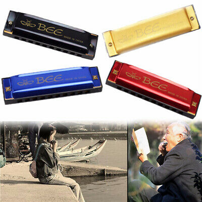 [NEW] BEE 10 Holes 40 Tone C Key Harmonica Mouth Organ Musical Instrument Gift T