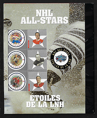Canada Stamps - Full Pane of 6 in Cover - 2001, NHL All Stars #1885 - MNH