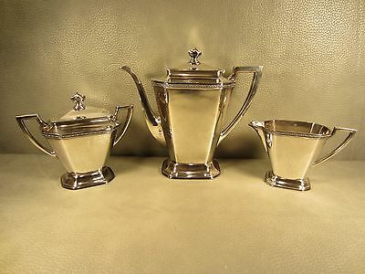 Colonial Silver Co. 3 Piece Coffee Set Silver Plate