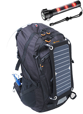 SolarSak water filtering solar hydration backpack w/ 7W panel & water filter