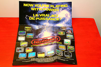 Original Nintendo Nes Now You're Playing With Power Poster
