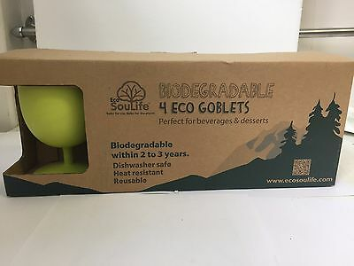 Eco Soulife Eco Goblet  x 4 Environmentally friendly & biodegradable