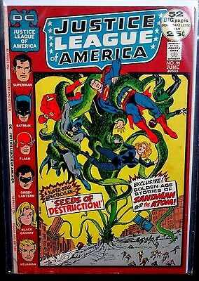 JUSTICE LEAGUE OF AMERICA #99 (FN) Golden-Age Sandman Appearance! 52 Pages 1972