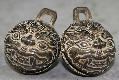 A pair of Chinese bronze big bell