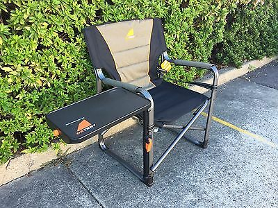2 x Oz Tent Gecko camping chair with side table