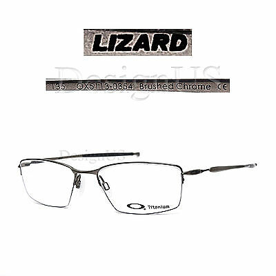 4545d94210 Oakley LIZARD OX5113-0354 Brushed Chrome Titanium Half-Rimless Eyeglasses  Rx-New