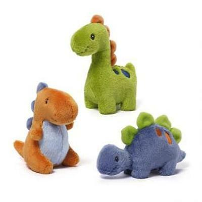 NEW Baby Gund Plush Dinosaur Rattles - Set 3