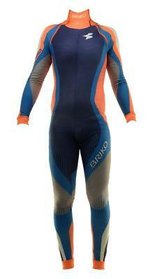 Briko ski Suit VINTAGE RACING WORLD CUP blue background woman orange 0A4631--54