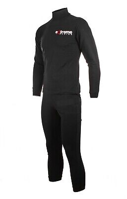 Motorcycle Two piece base layer undersuit under leather from extreme racing
