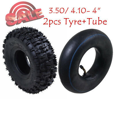 """2X 4.10-4"""" Inch Tire Tyre & Inner Tubes For 47cc 49cc Pit Dirt Bike Quad Buggy"""
