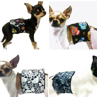 Bulk 4 Pack The Dog Belly Band Skulls Washable Waterproof Group One Dog Gallery
