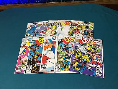 Marvel Comics Excalibur Lot Of 10 #35-55 Vs X-Men #1