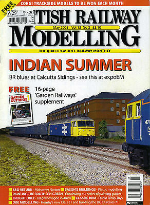 BRITISH RAILWAY MODELLING MAGAZINE May 2005 Vol 13 No 2 Indian Summer Trains