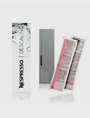 Nespresso Descaling Coffee descaler Espresso Machine Cleaning Kit, 2 Packets NEW