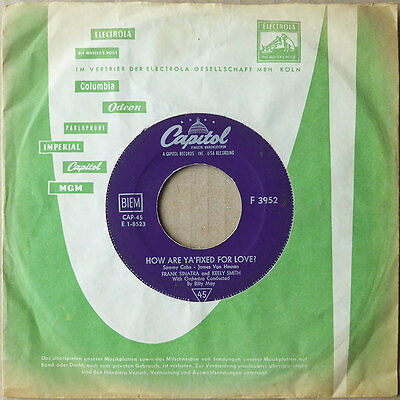 "7"" Frank Sinatra Keely Smith - How Are Ya' Fixed For Love? - DE 59 - VG++"