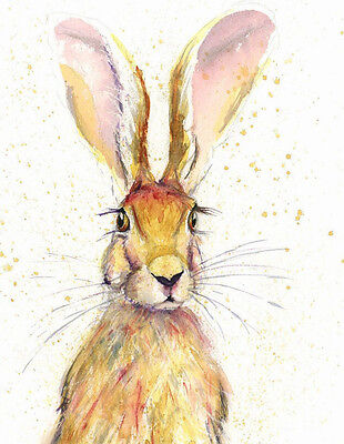 HELEN ROSE Limited Print of my HARE watercolour painting 388