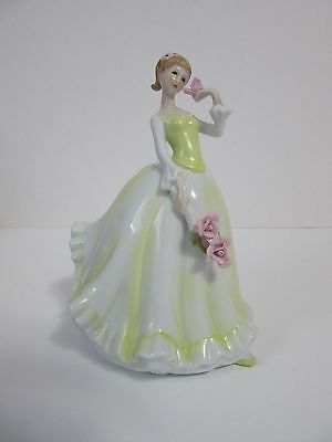 Empress By Haruta Porcelain Figurine Lady In Yellow Holding Flowers