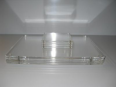 Set Of 4 Acrylic Place Mats And Coasters Clear Table Mats & Coasters Anti Slip