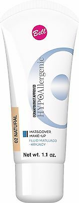 Bell HYPOAllergenic MAT & COVER MAKE-UP Fluid 02 NATURAL 30g / 1.1oz.