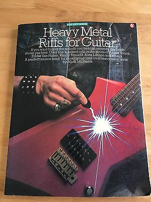 Heavy Metal Riffs for Guitar - Music Instruction Book with Tablature