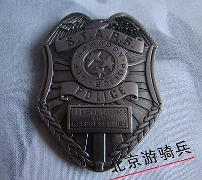 Resident Evil Biohazard S.t.a.r.s. Stars Raccoon Police Dep Badge Silver-1988
