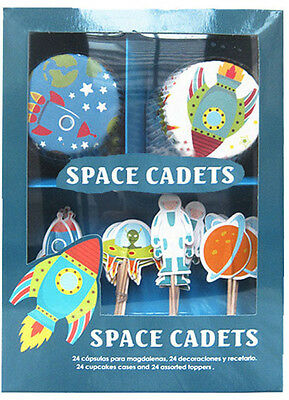 Miquel -Rius Designer Space Cadets Cupcake Kit Toppers & Cases Party Occasions