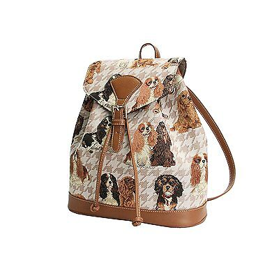 Signare Womens Tapestry Small Rucksack Backpack in Cavalier King Charles Spaniel