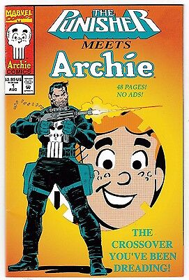PUNISHER MEETS ARCHIE #1 (VF/NM) Die-Cut Cover! Cool Crossover! MARVEL 48 Pages