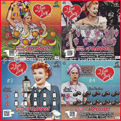 I Love Lucy CT $2.00 lottery losing scratch ticket Connecticut.Limited 2nd EDITI