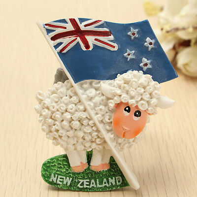 [NEW] Cute Sheep & Flag 3D Resin Travel Fridge Magnet New Zealand Tourist Souven