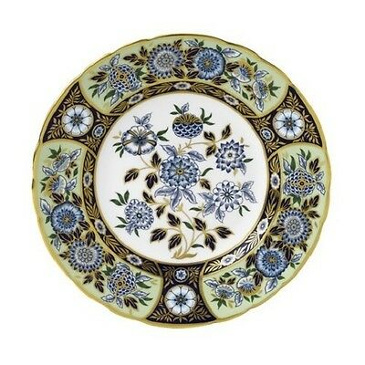 """New Royal Crown Derby 1st Quality Imari Accent 8"""" Plate - Midori Meadow"""