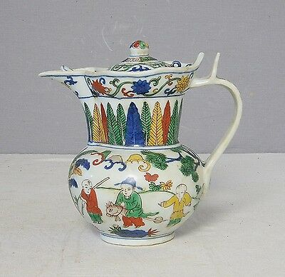 Chinese  Dou-Cai  Porcelain  Teapot  With  Mark     M2116