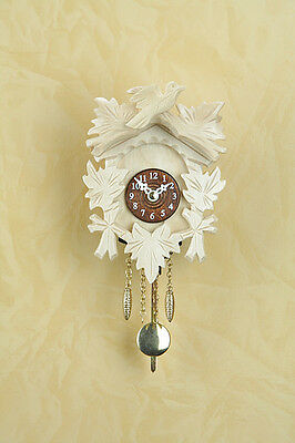Black Forest Clock Natural Wood Pendulum Clock Wood Dial Made in Germany 20p